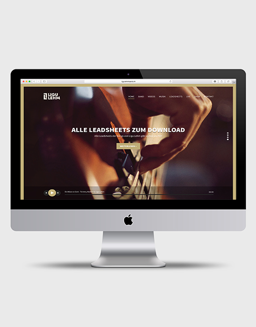 Band Website: Design Gestaltung Grafik Grafiker Worship Ligu Lehm